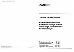 Zanker KE 9000 Thermat Comfort